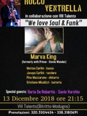 Rocco Ventrella – super ospite Marva King (corista Prince & Stevie Wonder)